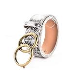 FSA017 Solid & Animal Pattern Double Chain Belt, Snake